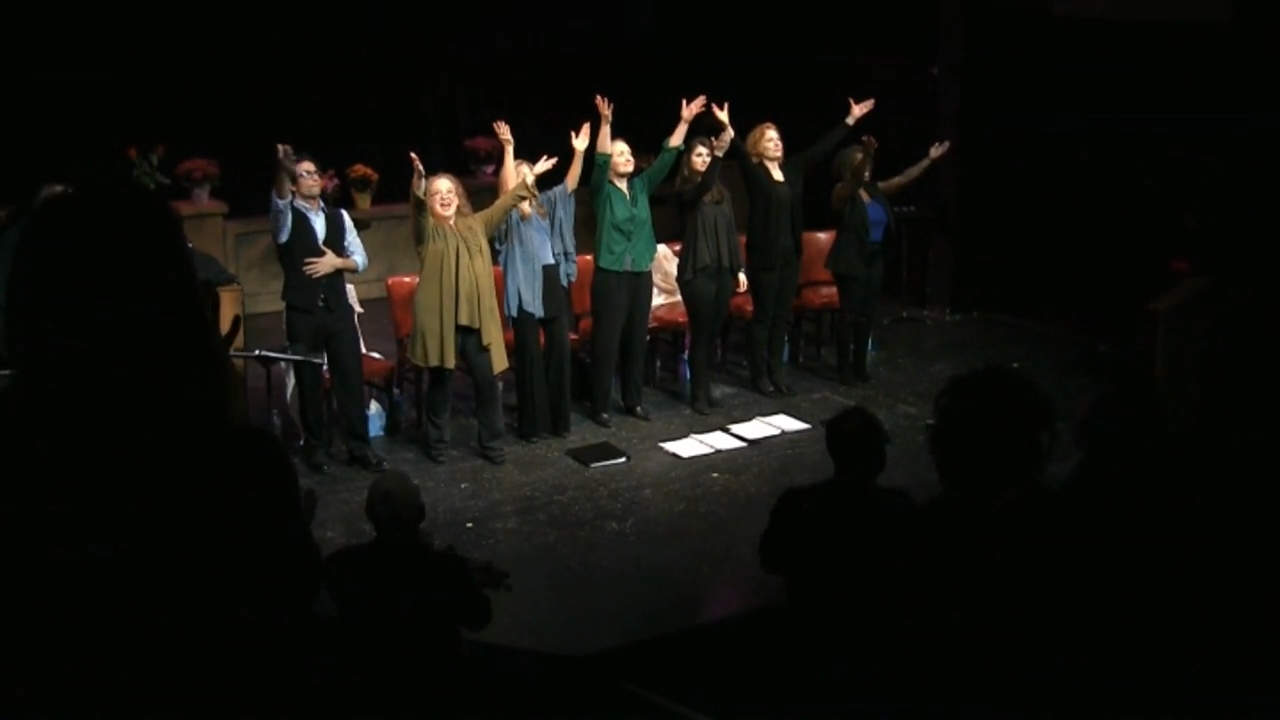 Curtain Call Cast - Hands Raised